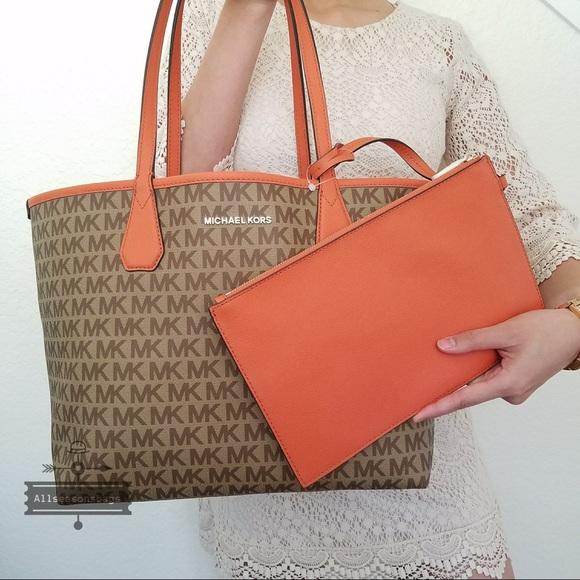 102923826d62 Michael Kors Bags   Candy Tangerine Reversible Large Tote   Poshmark